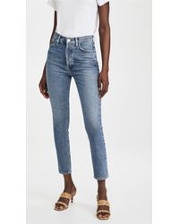 Goldsign The High Rise Slim Jeans - Blue
