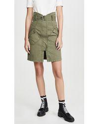 Marissa Webb Brooke Heavy Canvas Long Skirt - Green