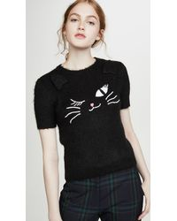 Boutique Moschino Cat Tee - Black