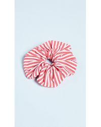 Solid & Striped - The Red Seersucker Scrunchie - Lyst