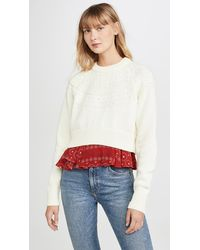 Kolor Layered Detail Sweater - Multicolour