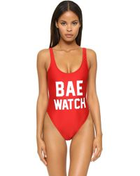 Private Party - Bae Watch One Piece Bathing Suit - Lyst