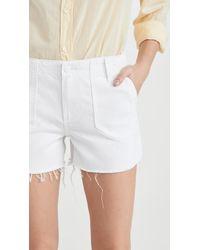 PAIGE Mayslie Utility Shorts - White