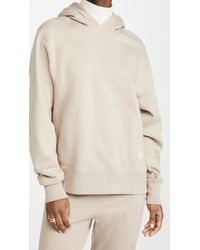 Tory Burch French Terry Melange Hoodie - Natural