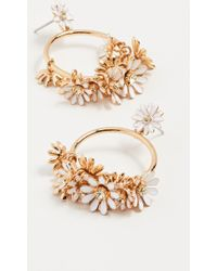 Kate Spade - Loves Me Loves Me Not Drop Hoop Earrings - Lyst