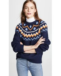Tory Sport - Fair Isle Cable Sweater - Lyst
