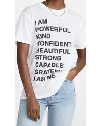 Anine Bing Lili Empowerment Tee - White
