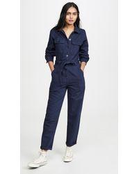 Reformation Kendall Boiler Suit Jumpsuit - Blue