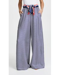 Paper London Nevis Silk Pants - Blue