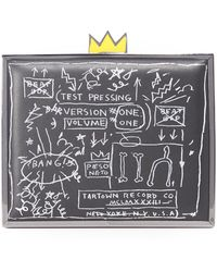 Alice + Olivia Ao X Basquiat Beat Bop Clutch - Black