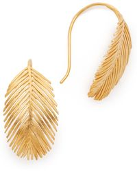 Alex Monroe Large Palm Hook Earrings - Metallic
