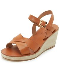 A.P.C. Classic Wedge Sandals - Brown