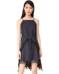 flared apron dress - Blue Alexander Wang Cheap Sale Wiki Release Dates Online Hv68pQG
