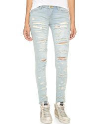 Blank - Distressed Skinny Jeans - Lyst