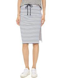 Bobi - Stripe Skirt - Lyst