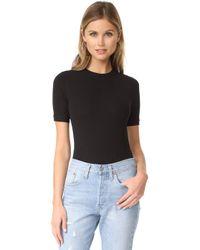 Capulet Sandra Short Sleeve Bodysuit - Black