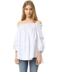 Caroline Constas Lou Off The Shoulder Blouse - Multicolour
