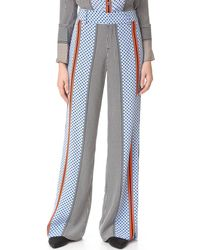 10 Crosby Derek Lam Wide Leg Pyjama Trousers - Multicolour