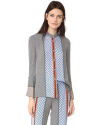 10 Crosby Derek Lam Bell Sleeve Pyjama Top - Multicolour