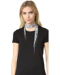 Chan Luu - Combo Fringe Scarf Necklace - Lyst