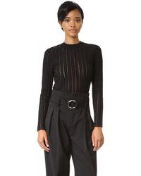 Camilla & Marc - Sheer Stripe Knit Sweater - Lyst