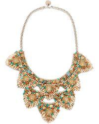 Deepa Gurnani Deepa By Rizka Necklace - Metallic