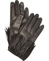 Diane von Furstenberg - Fringe Leather Texting Gloves - Lyst