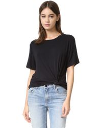 David Lerner Knotted Tee - Black