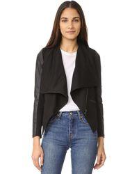 David Lerner Asymmetrical Draped Jacket - Black