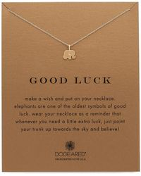 Dogeared - Good Luck Charm Necklace - Lyst