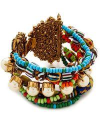 Erickson Beamon - Imitation Pearl Safari Bracelet - Lyst
