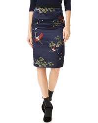Edition10 - Embroidered Skirt - Lyst