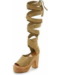 Free People | Touch The Sky Wrap Clogs | Lyst