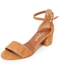 Free People | Marigold Block Heel Sandals | Lyst