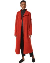 Giada Forte - Gauzed Wool Coat - Lyst