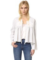 Giada Forte - Embroidered Jacket - Lyst