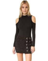 Glamorous Cold Shoulder Bodysuit - Black