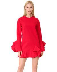 Goen.J - Ruffled Jersey Dress - Lyst