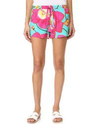 Isolda - Floral Shorts - Lyst