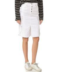 James Jeans - Front Slit Lana Skirt - Lyst