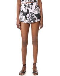 Kendall + Kylie - Pleated Silk Shorts - Lyst