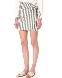 The Lady & The Sailor - Wrap Mini Skirt - Lyst