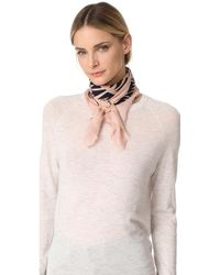 Lizzie Fortunato Graphic Arrows Scarf With Slider - Pink