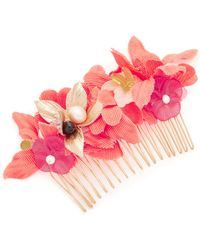 Lizzie Fortunato - Tropical Flower Hair Comb - Lyst