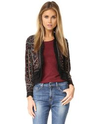 Love Sam - Embroidered Jacket With Ruffle Trim - Lyst