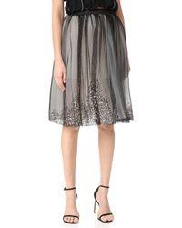 Loyd/Ford - Beaded Tulle Skirt - Lyst