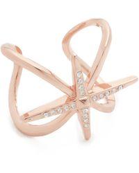 Luv Aj - The Crisscross Starburst Ring - Lyst