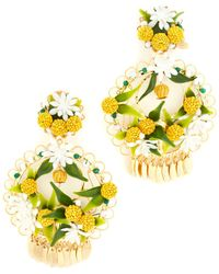 Mercedes Salazar Fiesta Lemon Clip On Earrings - Multicolour