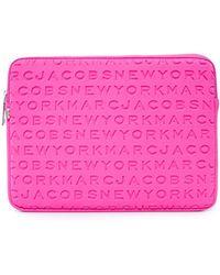 "Marc Jacobs 13"" Neoprene Logo Computer Case - Pink"