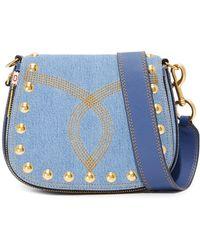 Marc Jacobs Denim Nomad Saddle Bag - Blue
